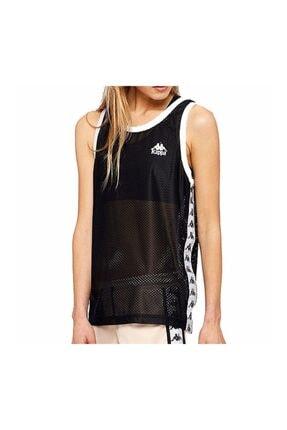 Kappa Kadın Siyah Beyaz Detaylı T-shirt 303wgn0-900