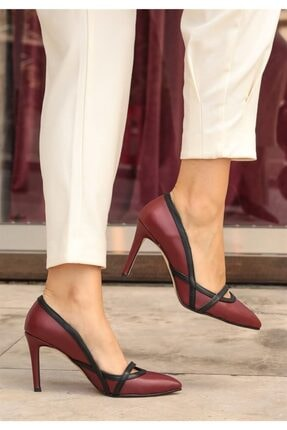 Mio Gusto Lucy Bordo Topuklu Ayakkabı