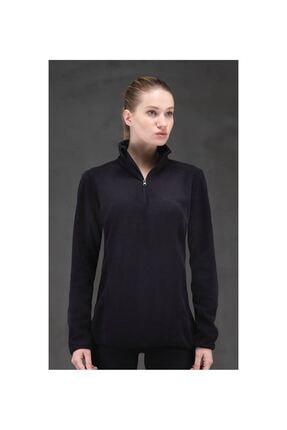 Blackspade Black Spade 6344 Kadın Polar Sweatshirt Siyah