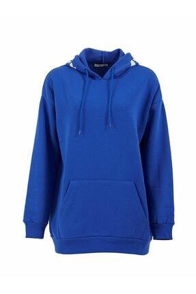 LTB Kadın Mavi Oversize Sweatshirt Lewesa 0112181529600200000