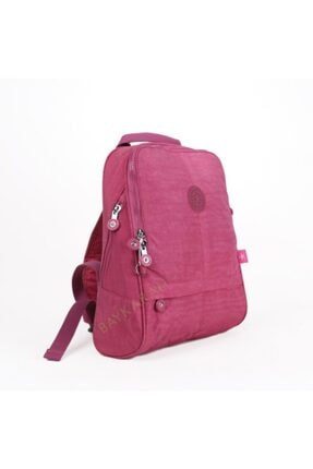 Smart Bags 1117 Krinkıl Kumaş Kadın Sırt Çantası 18 Açık Pembe