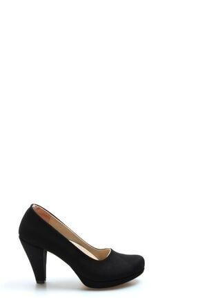 Fast Step Siyah Süet Kadın Yüksek Topuk Ayakkabı 919za647