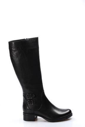Fast Step Hakiki Deri Siyah Kadın Klasik Çizme 757sza5111
