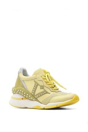 İlvi Neo Bayan Spor Ayakkabı Sarı Kombin