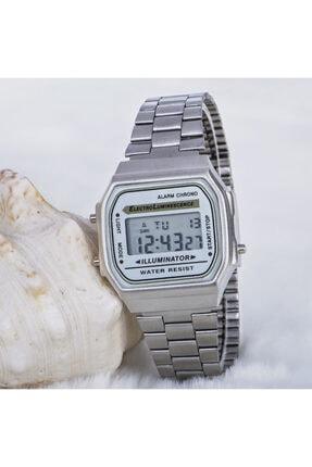 Spectrum Gümüş Renk Çelik Kordonlu Dijital Retro Bayan Unisex Saat St-303688
