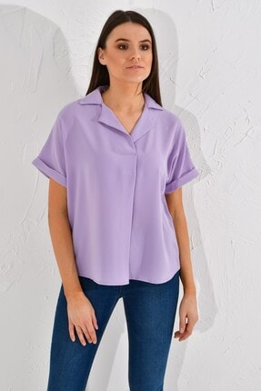 Cotton Mood 20022967 Sunshine Bindirmeli Ceket Yaka Bluz Lıla