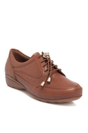 Tergan Taba Kadın Deri Ayakkabı 65080a29