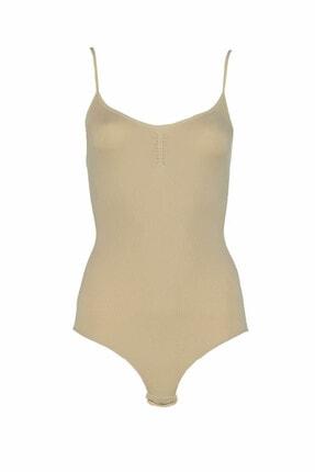 Jiber Kadın Ten Rengi Body - 4523