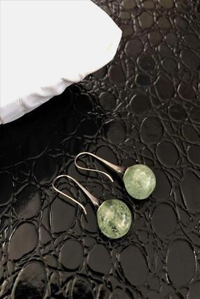 DR Stone Dr Stone Doğaltaş El Yapımı Florit Taşı Küpe Ahl126