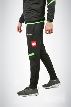 Lotto Unisex Siyah-yeşil Antrenman Spor Eşofman Altı R0712
