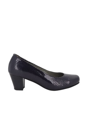 Hobby Lacivert Rugan Topuklu Kadın Ayakkabı 5116