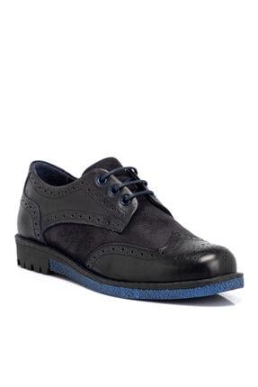 Tergan Lacivert Deri Kadın Ayakkabı 65258c2q
