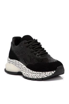 Tergan Siyah Tekstil Kadın Ayakkabı 64711d62