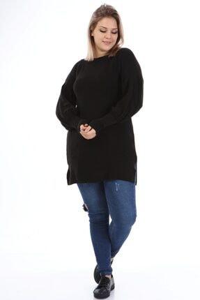 Big Free Tb21kb372082 Siyah Kadın Balon Kol Uzun Kazak