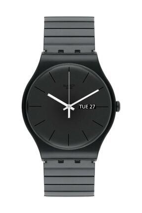 Swatch  Unisex Siyah Kol Saati SUOB708B