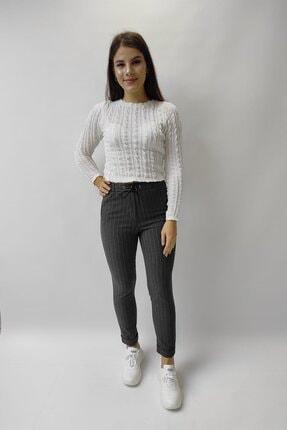 Ayhan Kadın Çizgili Pantolon