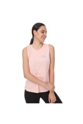 Kappa Kadın Pembe Bej T-shirt
