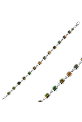 Tevuli Gümüş 925 Ayar Opal Taşlı Bileklik