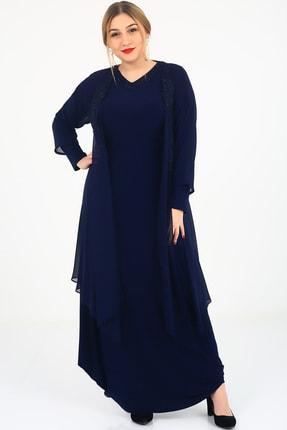 Günay Kadın Abiye Elbise Ugz5110-lacivert