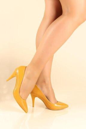 Fast Step Hardal Rugan Kadın Stiletto Ayakkabı 629za039-087