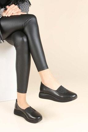 Fast Step Kadın Siyah Hakiki Deri Casual Ayakkabı 888za295