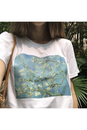 Köstebek Art - Van Gogh - Çiçek Açan Badem Ağacı Unisex T-shirt