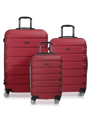 Fossil Fsy1116-set Kırmızı Kırmızı Unısex 3 Lü Set Valiz