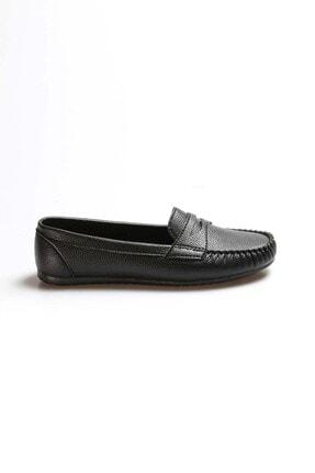 Fast Step Siyah Kadın Babet Ayakkabı 933za101