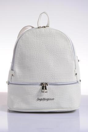 Sergio Giorgianni Luxury Sg1584 Beyaz Krk Kadın Sırt Çantası