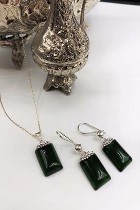 DR Stone Dr Stone Harem Koleksiyonu Kedigözü Taşı El Yapımı 925 Ayar Gümüş Set Gdr17