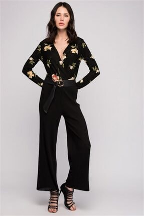 Cotton Mood 8130793 Kalın Fitilli Beli Lastikli Uzun Pantolon Sıyah