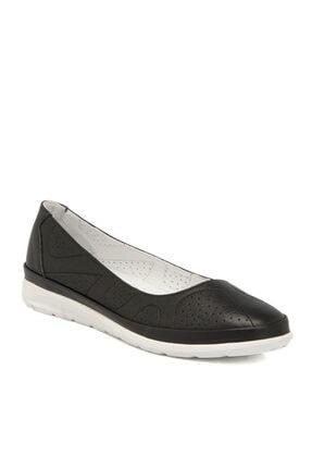 Tergan Siyah Deri Kadın Ayakkabı 64335a23
