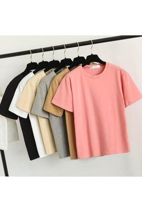 Köstebek Düz Renk Büyük Beden T-shirtler