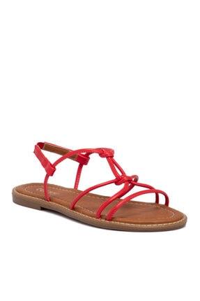 Tergan Kırmızı Vegan Kadın Sandalet 10162d64