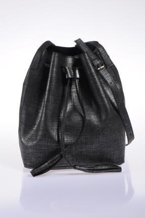 Sergio Giorgianni Luxury Sg1867 Siyah Simli Kadın Omuz Çantası