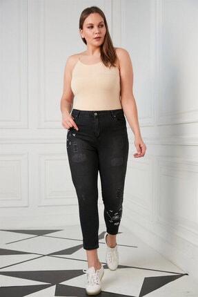 Günay Kadın Pantolon Rg1515 Jean Yüksek Bel Dar Paça-kim Füme