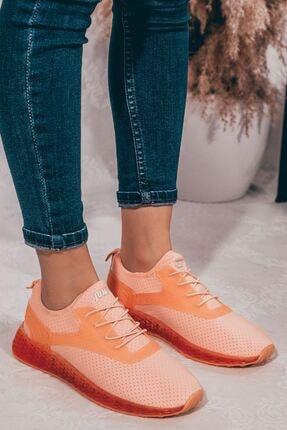 Jump Pembe Şeffaf Taban Bağcıklı Kadın Spor Ayakkabı • A202yjmp0013