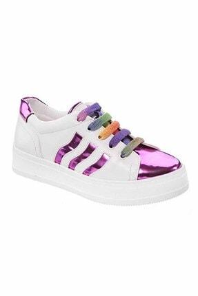 Sanbe Suni Deri Ayakkabı Fuşya