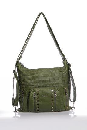 Barcelona Brc1821-0029 Koyu Yeşil Kadın Omuz Çantası
