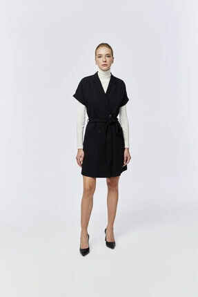 W Collection Kısa Kollu Kruvaze Elbise