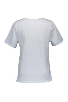 Collezione Beyaz Kadın Örme Tshirt Kısa Kol