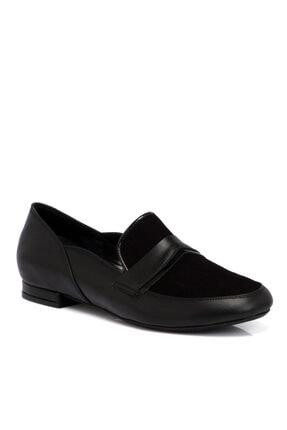 Tergan Siyah Kadın Deri Ayakkabı 65296a23