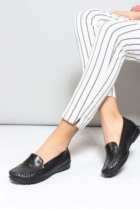 Fast Step Hakiki Deri Siyah Kadın Casual Ayakkabı 881za1020