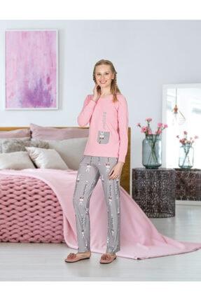 Jiber 3670 Kadın Modal Pijama Takımı - Pembe