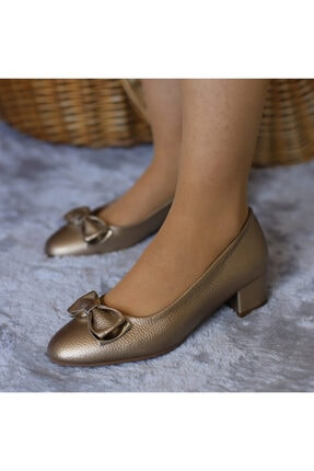 Punto Kadın Bronz Mevsimlik Yumurta Topuk Ayakkabı