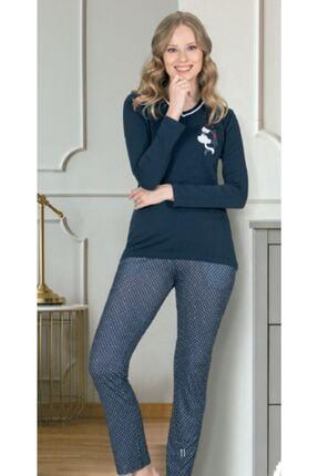 Jiber Kadın Lacivert Modal Pijama Takımı