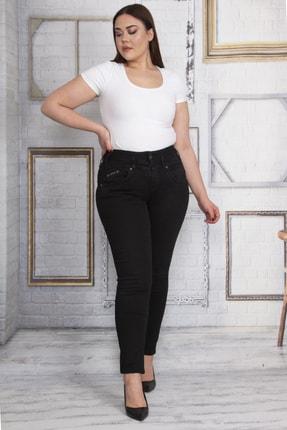 Şans Kadın Siyah 5 Cepli Kot Skınny Pantolon 65N23250