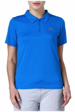Kappa Kadın Mavi Polo Slim Fit T-shirt