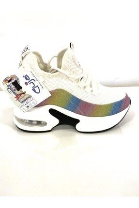 Guja Kadın Beyaz Yüksek Taban Spor Ayakkabı 20k333-