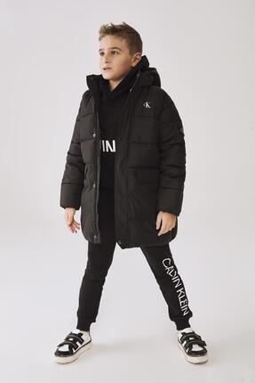 Calvin Klein Erkek Çocuk Siyah Mont 20fw1ck0558
